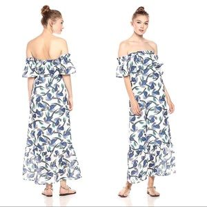 Lucca Couture Floral Off Shoulder Ruffle Maxi S